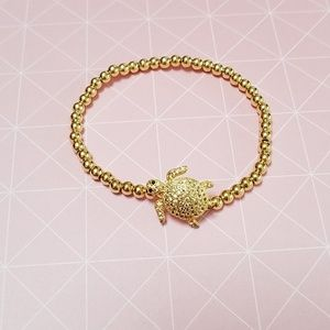 Accessories - Gold beaded turtle bracelet